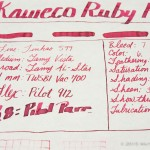 Kaweco Ruby Red - Tomoe River