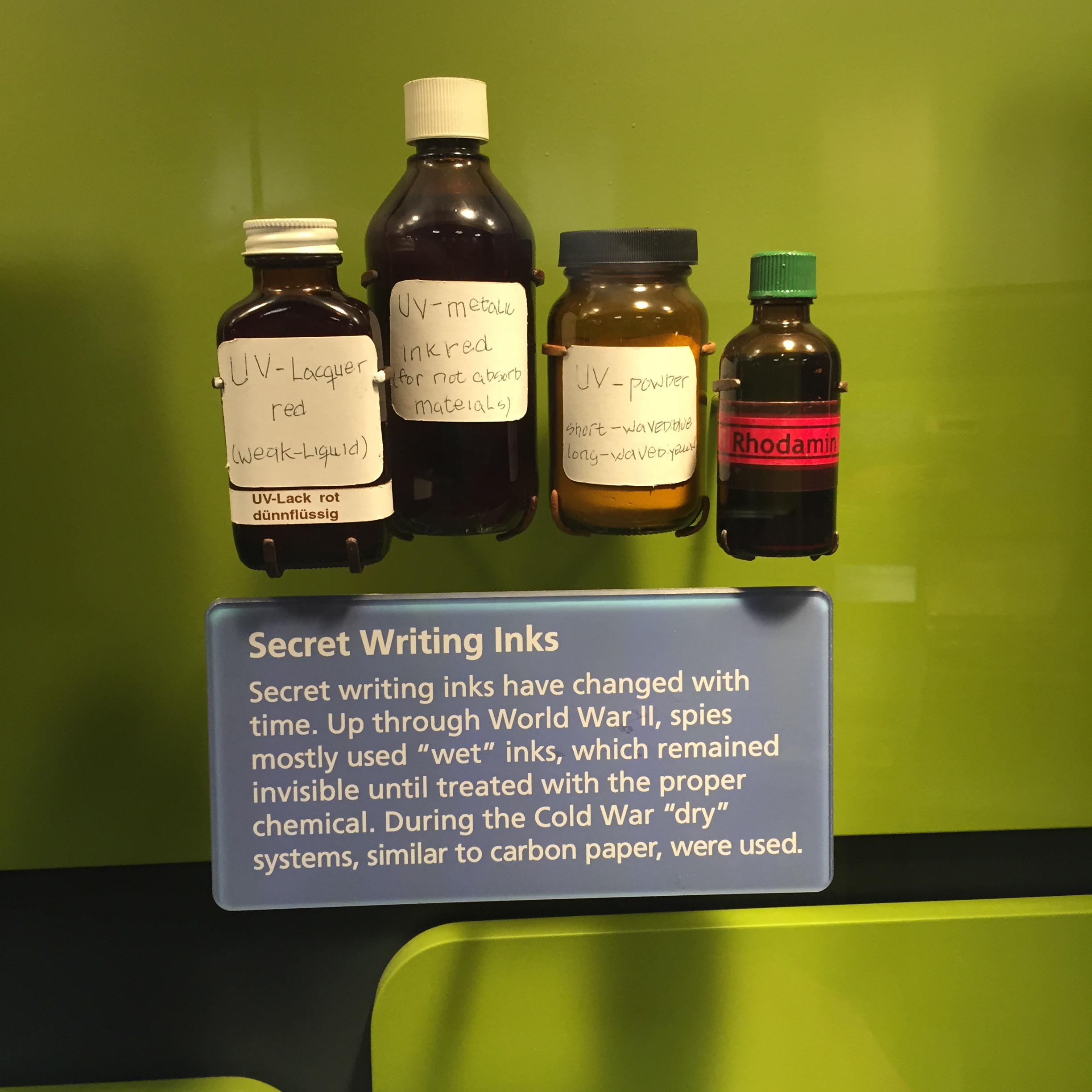 Special inks from the International Spy Museum. Fitting, considering where I had just been for the last four days.