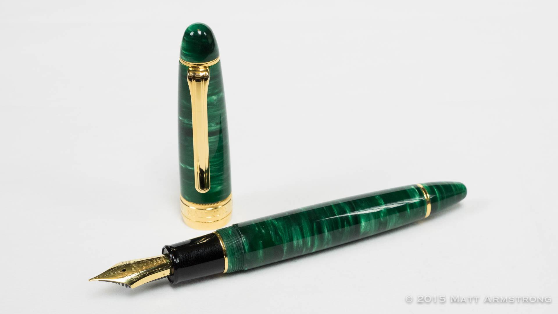 Classic Pens LB5 (King of Pen) Model in Midorigi Acrylic