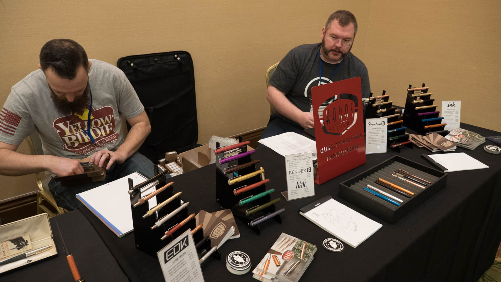 The guys from Karas Kustoms (And they don't just make great pens: they're a lot of fun, too!)