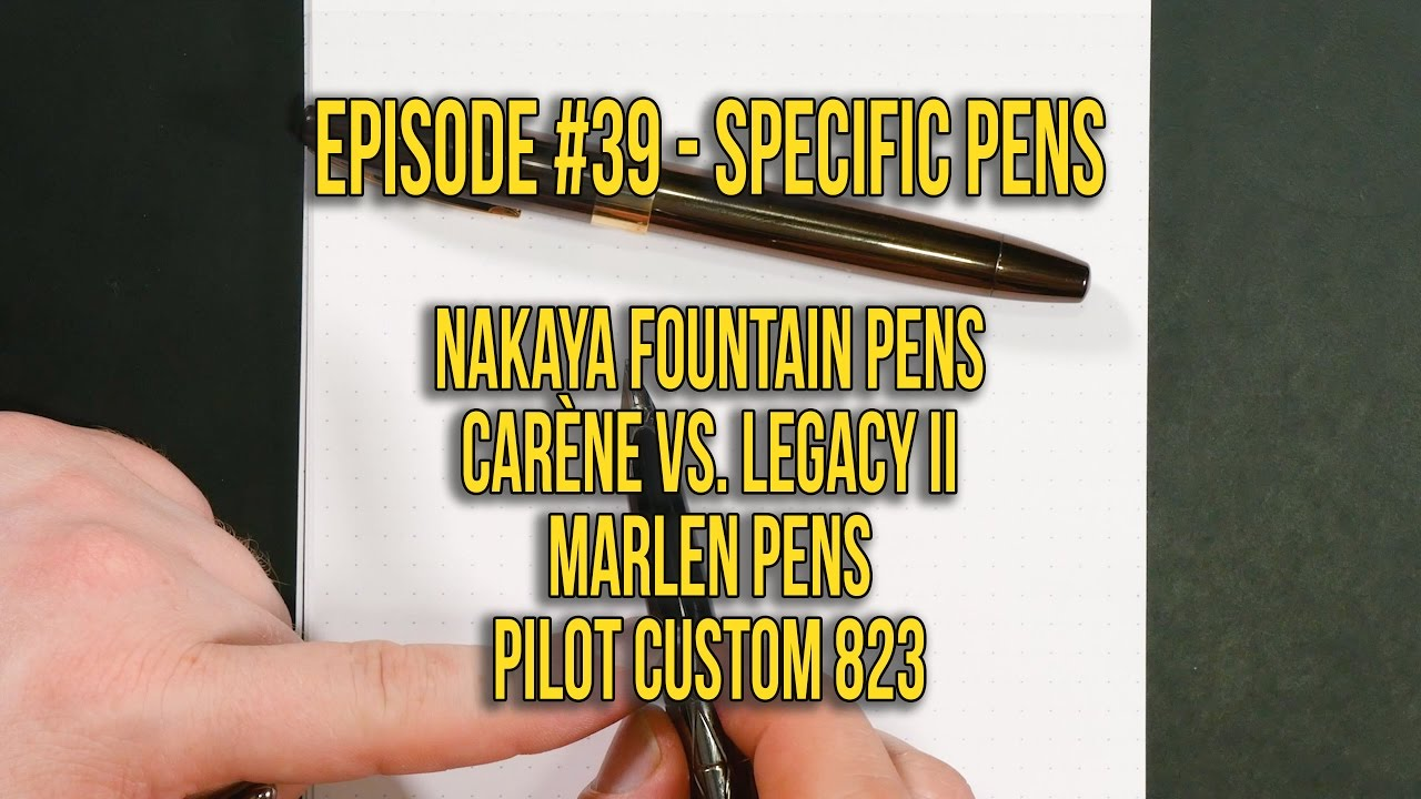 Episode #39 – Specific Pens