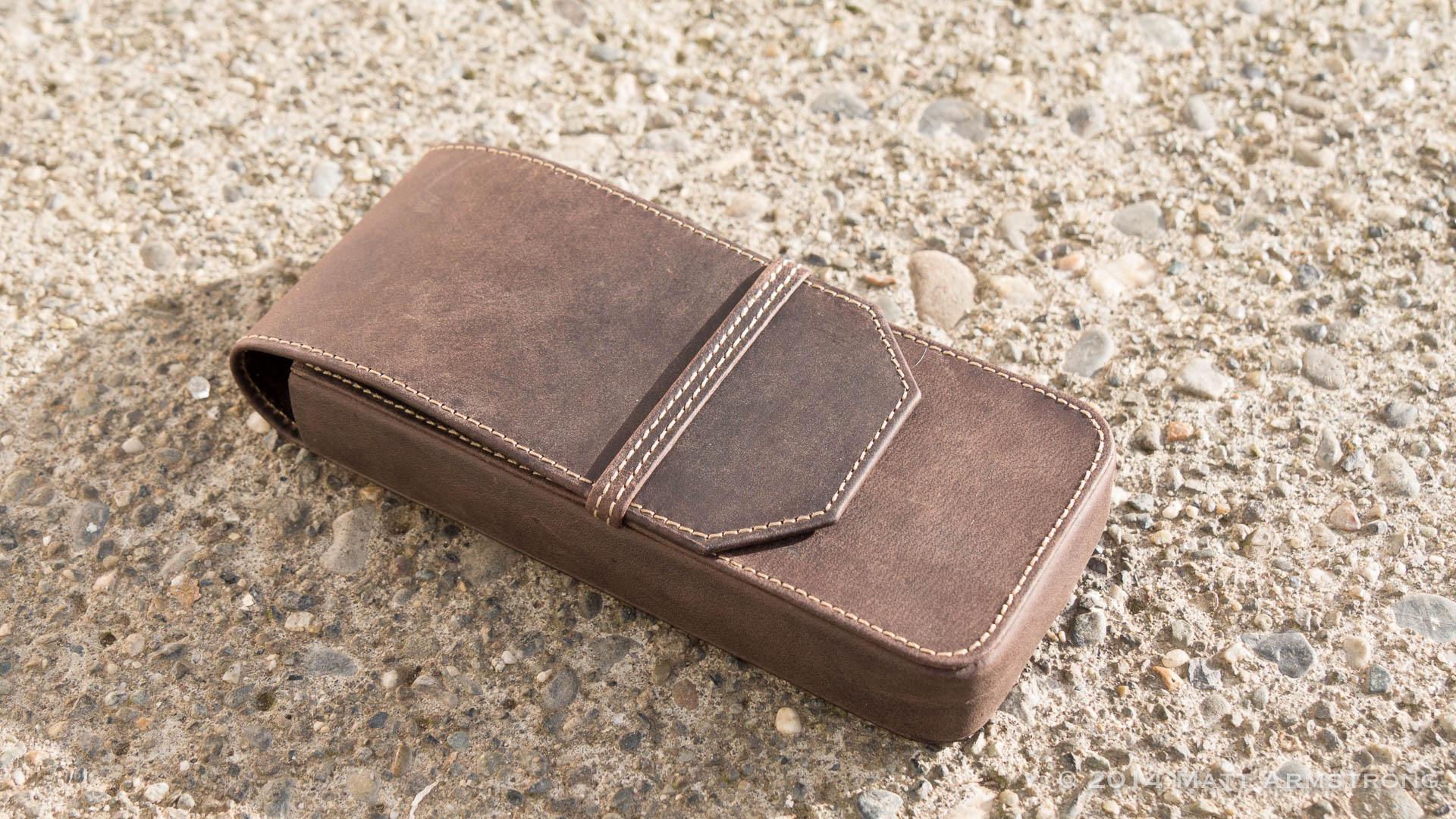 Pen-aphernalia: Franklin-Christoph 3-Pen Leather Pen Case