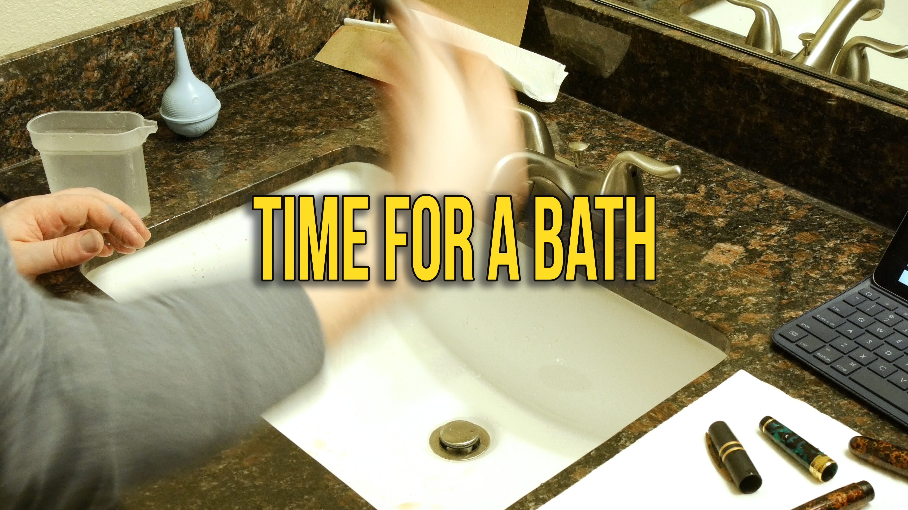 Time for a Bath | Cleaning my pens